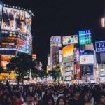 渋谷(夜の交差点)の画像